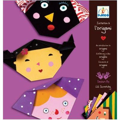 Origami - ansikten - Djeco