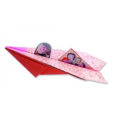 Origami - flygplan - gul - Djeco