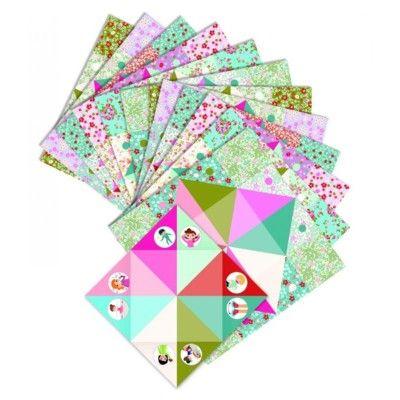 Origami - vika loppor - rosa - Djeco