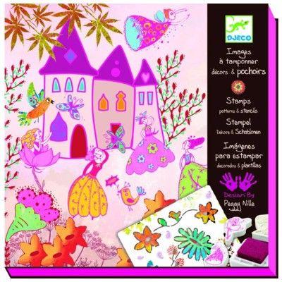 Stämplar och schabloner - Prinsessor - Djeco
