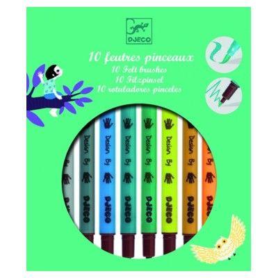 Tuschpennor 10 st - naturfärger - Djeco