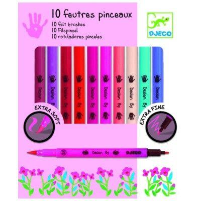 Tuschpennor 10 st - pastellfärger - Djeco