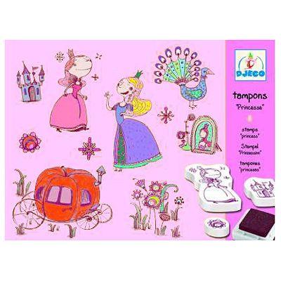 Stämpelset med prinsessor - Djeco