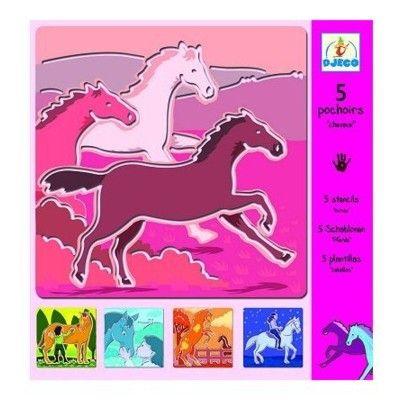 Ritschabloner - hästar - Djeco