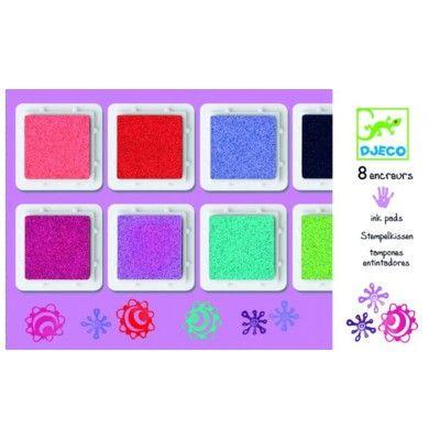 Stämpeldynor – 8 färger