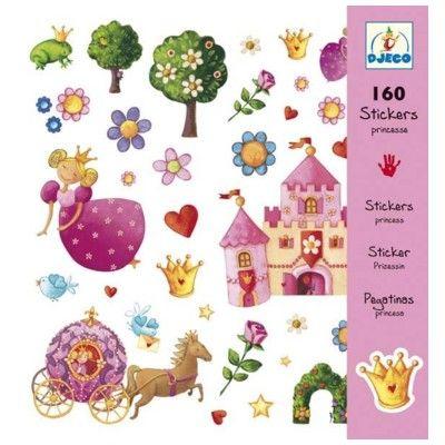Klistermärken, prinsessa - Djeco