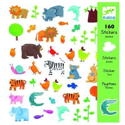 Klistermärken, alla sorters djur - Djeco
