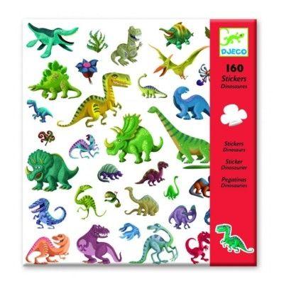 Klistermärken, glada dinosaurier - Djeco