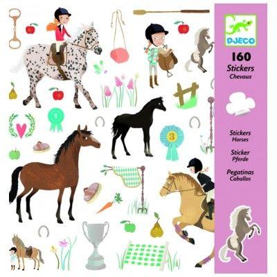 Klistermärken, hästar - Djeco
