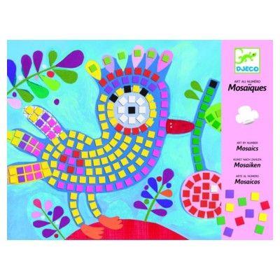 Mosaik - fågel och nyckelpiga - Djeco