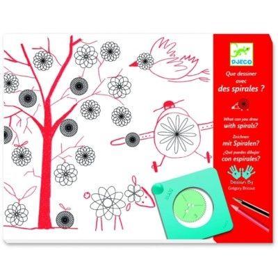 Rita spiralmönster med mallar - Skapa teckningar - Djeco