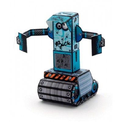 Gör egna figurer i papp - robotar