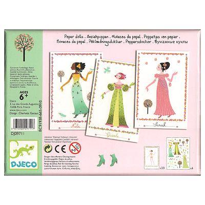 Pappersdockor med klistermärken - flickor