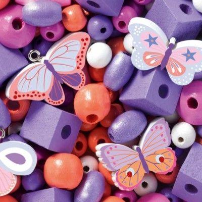 Träpärlor - Butterflies - Djeco