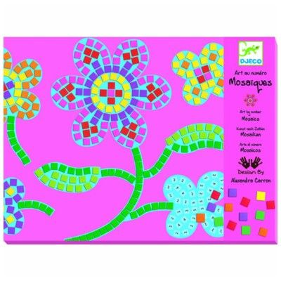 Mosaik, Blommor - 2 st - Djeco