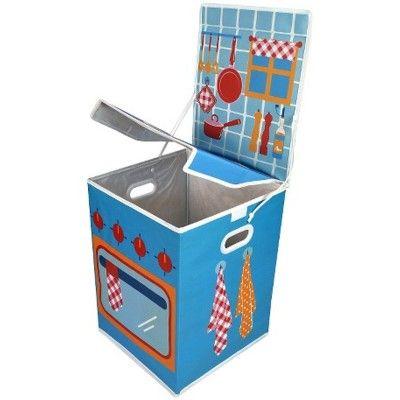 Förvaringsbox - blå spis