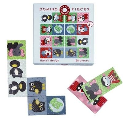 Domino med djur i snygg design - ekologisk från Franck & Fischer