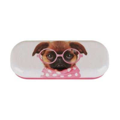 Glasögonfodral - hund med rosa glasögon - Catseye
