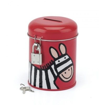 Sparbössa i plåt med zebra