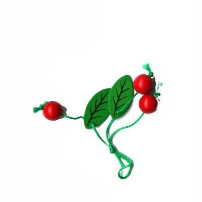 Leksaksmat - Körsbär i trä, små med blad