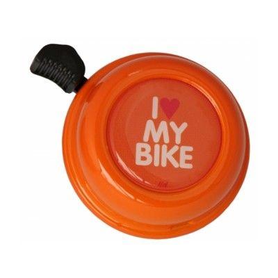 Ringklocka till cykel - orange med I love my bike - Liix