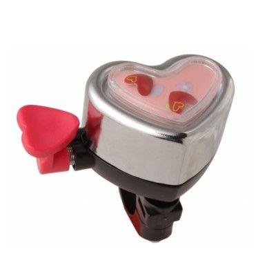 Ringklocka till cykel - hjärta med rörliga hjärtan - Liix