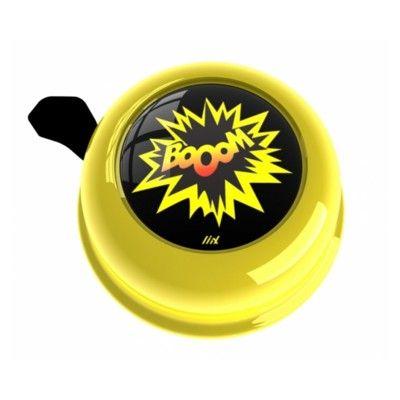 Ringklocka till cykel - gul med booom - Liix