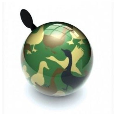 Ringklocka till cykel - camouflageankor - Liix