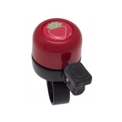 Ringklocka till cykel - röd med jordgubbe - Liix