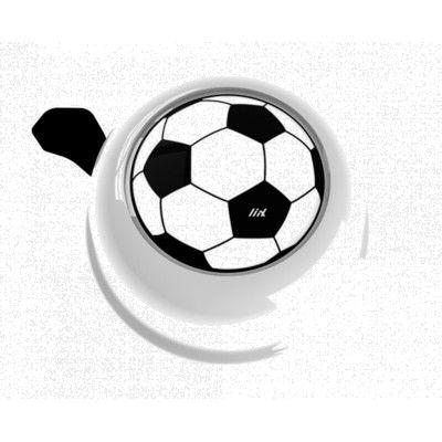 Ringklocka till cykel - vit med fotboll - liix