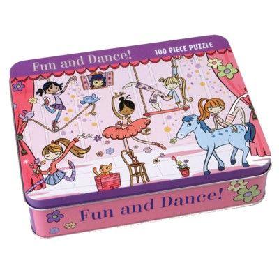 Pussel i plåtask - ballerina