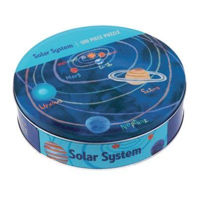 Pussel i plåtask - solsystemet