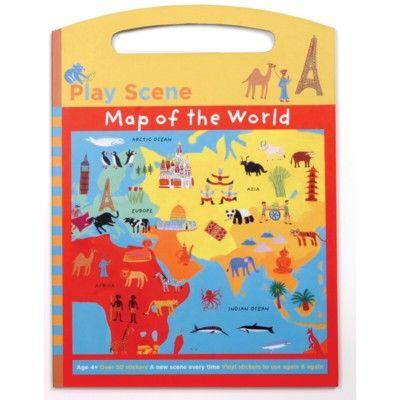 Aktivitetsbok, stor - världskarta