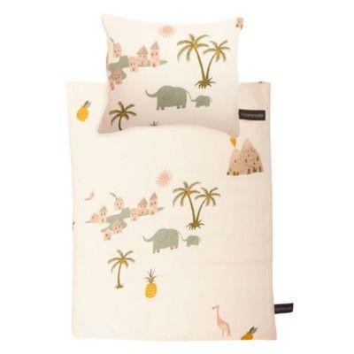 Sängkläder till docksäng - Tropical - ekologisk från Roommate