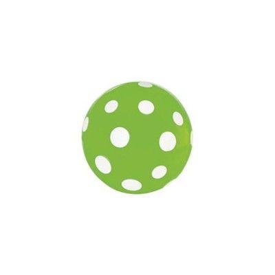 Studsboll - grön med vita prickar