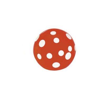 Studsboll - orange med vita prickar