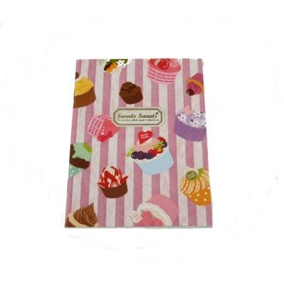 Skrivbok med cupcake