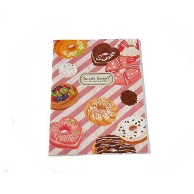 Skrivbok med donuts
