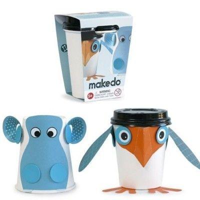 Cup critters - Fågel och flodhäst