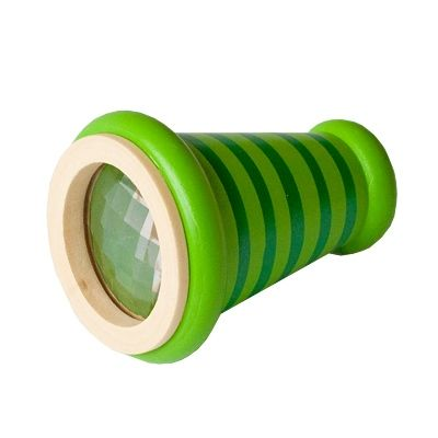 Kaleidoskop, kon - grön med ränder