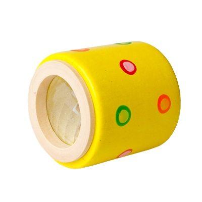 Kaleidoskop, cylinder - gul med prickar