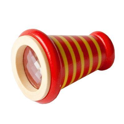 Kaleidoskop, kon - röd med ränder