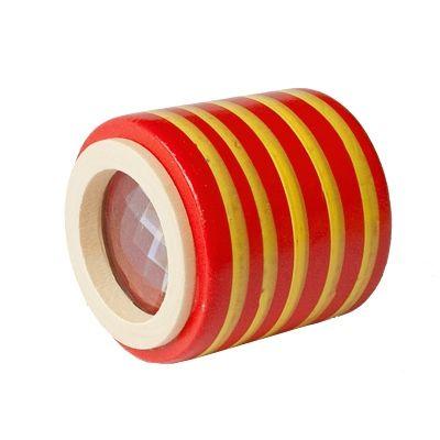 Kaleidoskop, cylinder - röd med ränder