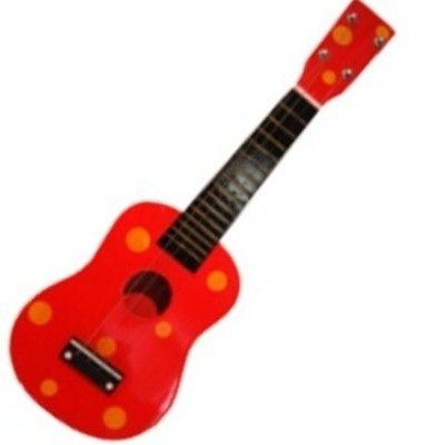 Gitarr - röd med oranga snurror