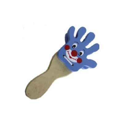 Handklapp - clown - blå
