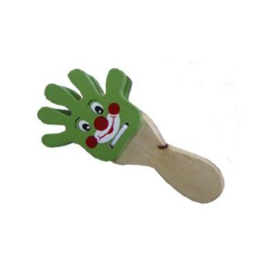 Handklapp - clown - grön