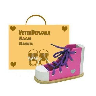 Lär dig knyta skor med diplom - rosa