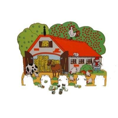 Kulspel i trä - bondgård