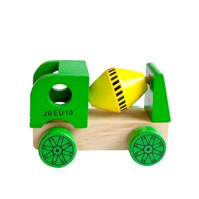 Bil i trä - cementbil, grön