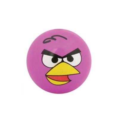 Studsboll med ljus - Angry Birds - rosa